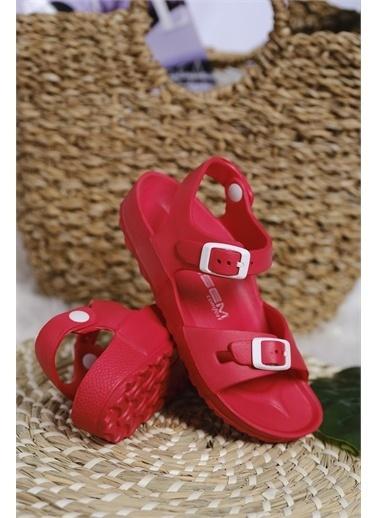 Oksit Esm Yumuşak Taban Hafif Çocuk Sandalet Kırmızı